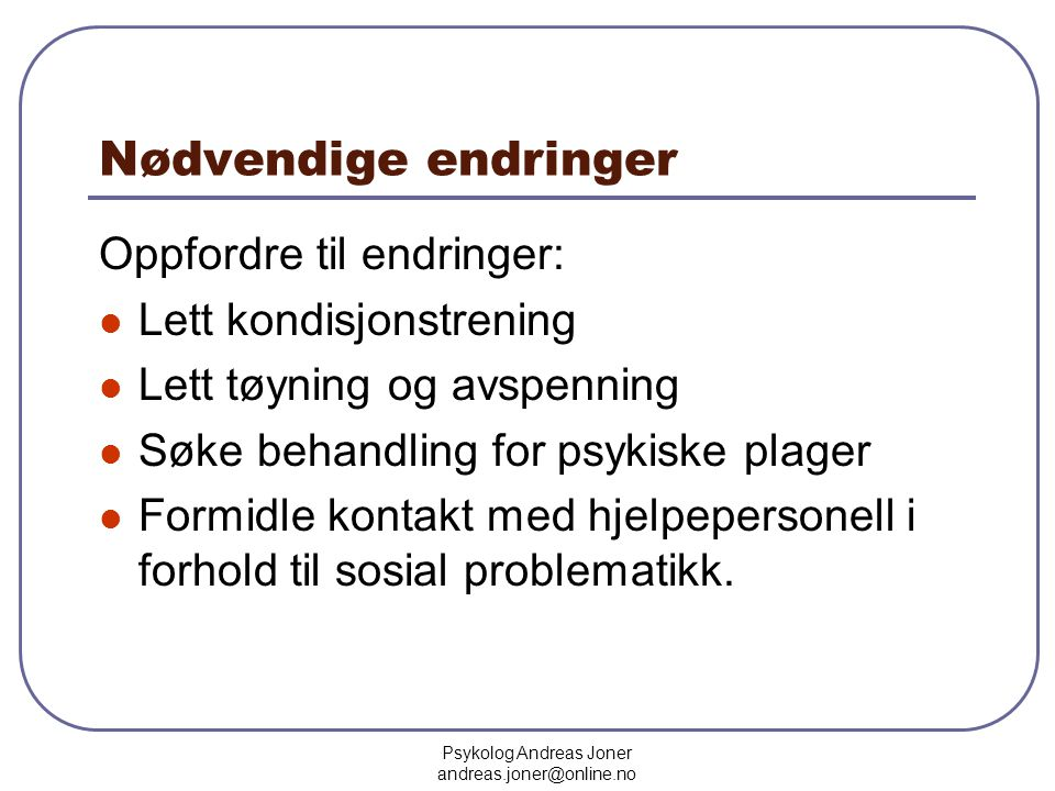 Psykolog Andreas Joner