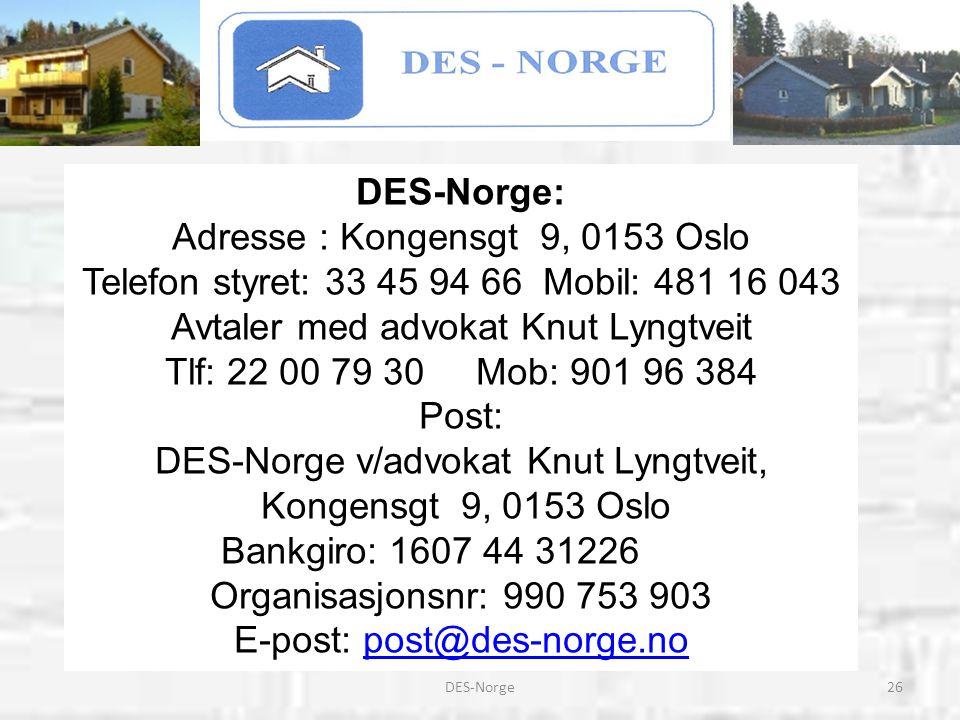 Avtaler med advokat Knut Lyngtveit Tlf: 22 00 79 30 Mob: 901 96 384