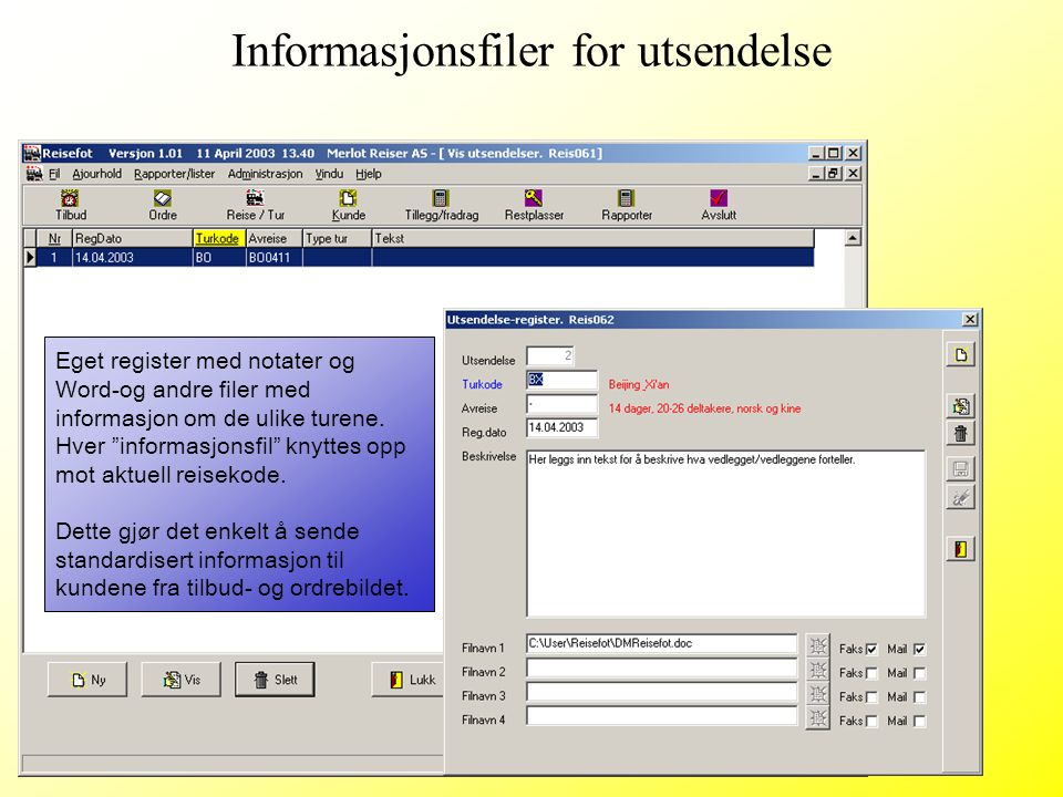 Informasjonsfiler for utsendelse