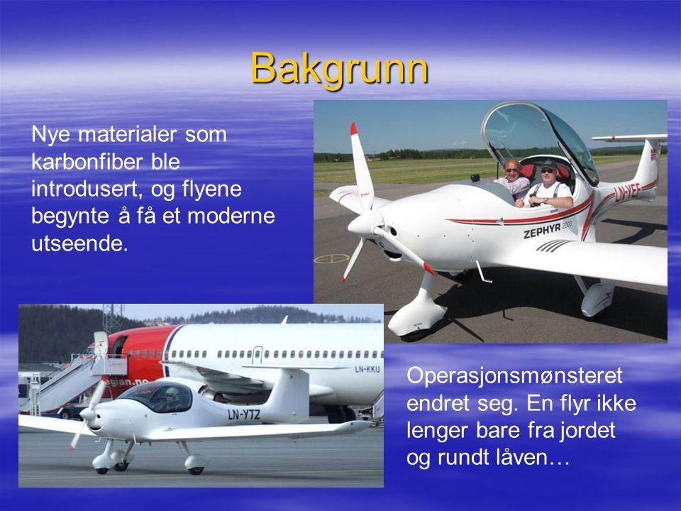 Bakgrunn Nye materialer som karbonfiber ble introdusert, og flyene begynte å få et moderne utseende.