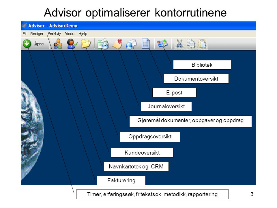 Advisor optimaliserer kontorrutinene