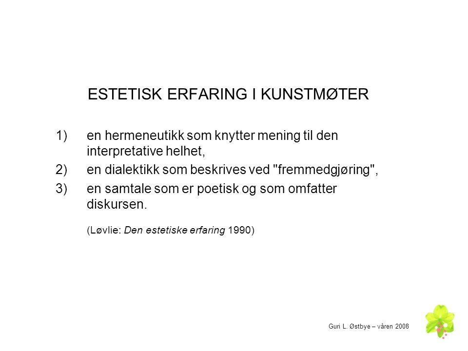 ESTETISK ERFARING I KUNSTMØTER