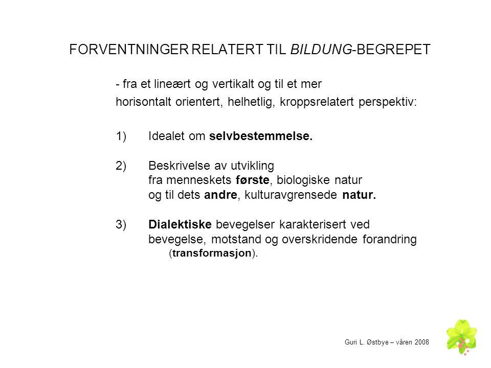 FORVENTNINGER RELATERT TIL BILDUNG-BEGREPET