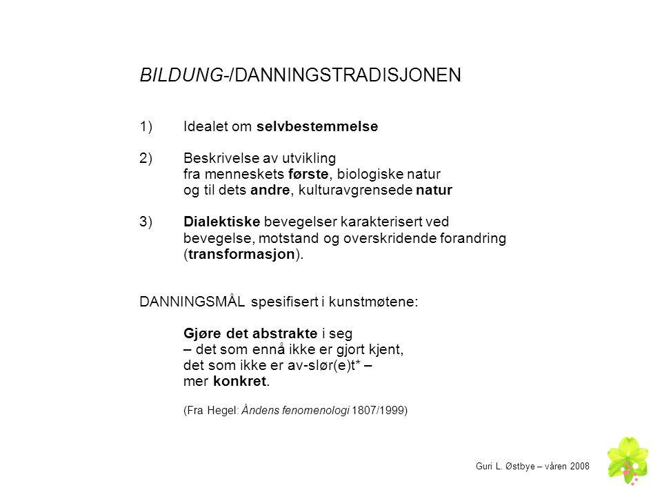 BILDUNG-/DANNINGSTRADISJONEN