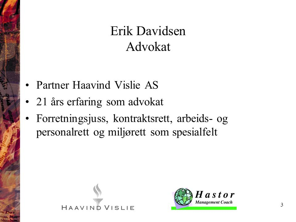 Erik Davidsen Advokat Partner Haavind Vislie AS
