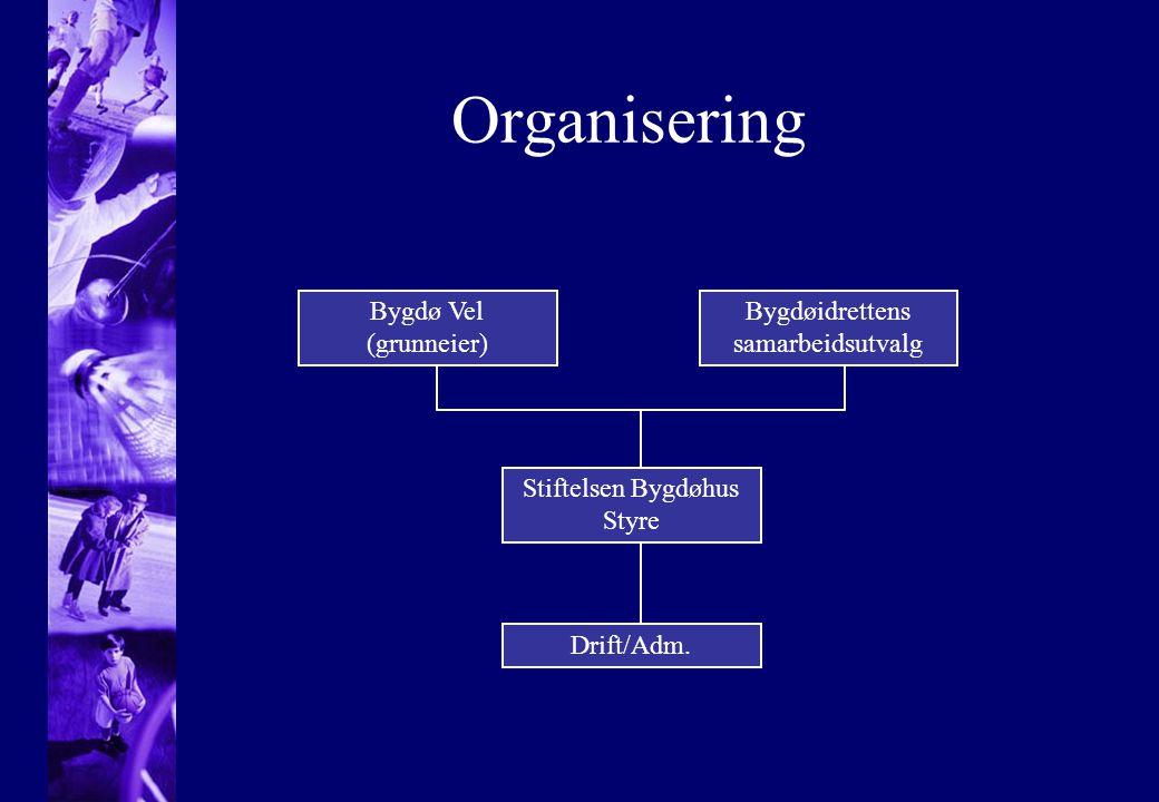 Organisering Bygdø Vel (grunneier) Bygdøidrettens samarbeidsutvalg