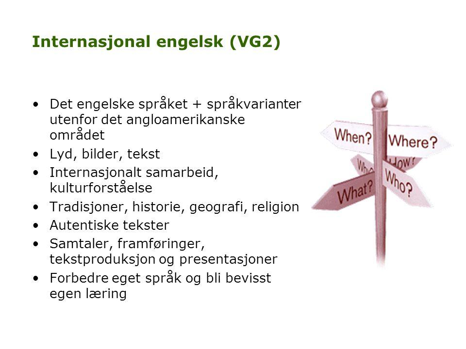 Internasjonal engelsk (VG2)