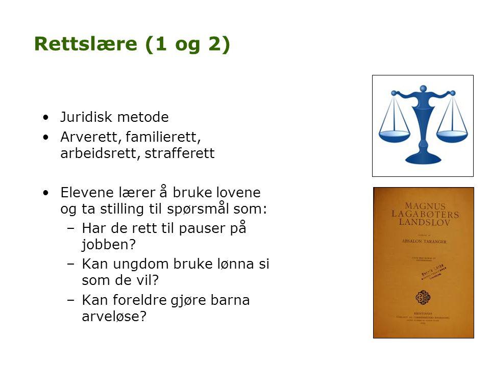 Rettslære (1 og 2) Juridisk metode