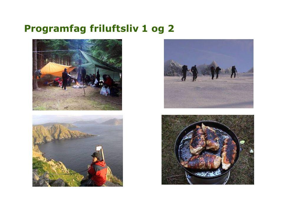 Programfag friluftsliv 1 og 2