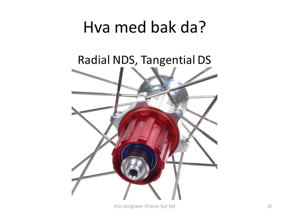 Hva med bak da Radial NDS, Tangential DS