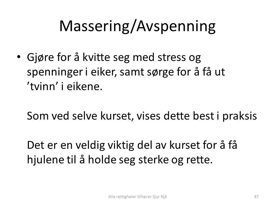 Massering/Avspenning