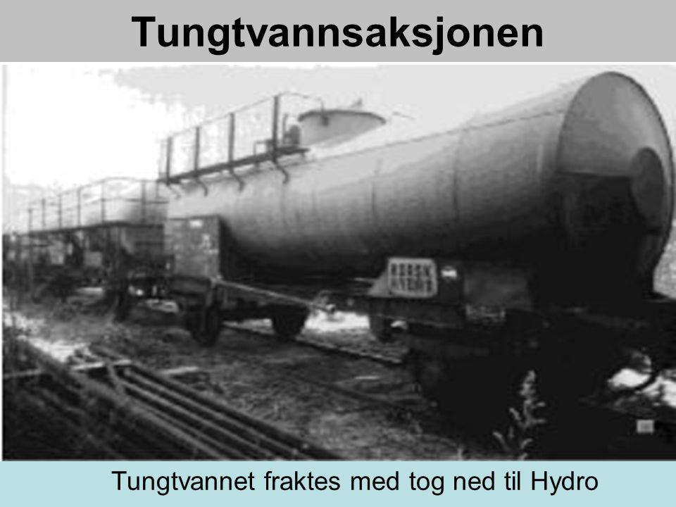Tungtvannet fraktes med tog ned til Hydro