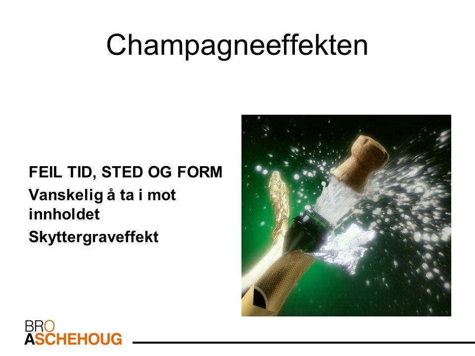 Champagneeffekten FEIL TID, STED OG FORM