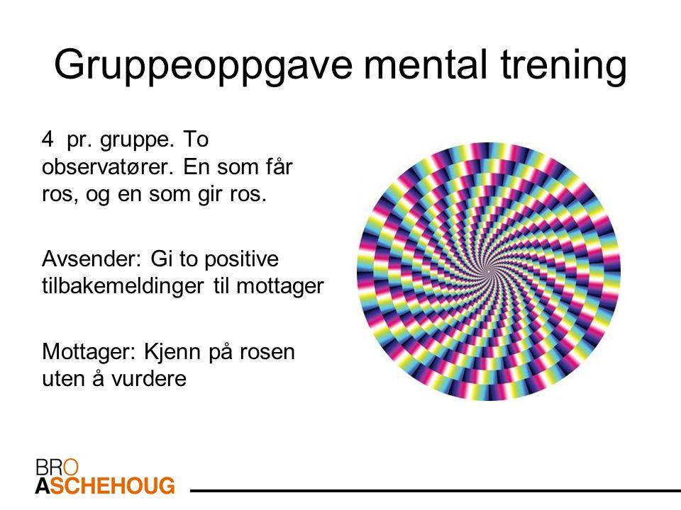 Gruppeoppgave mental trening