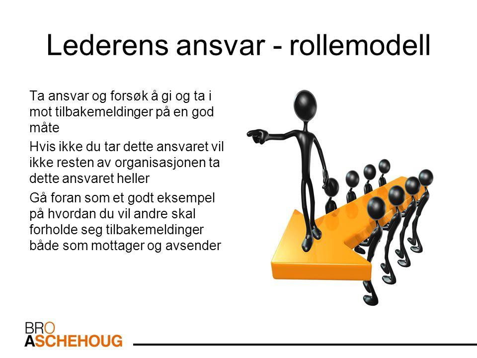 Lederens ansvar - rollemodell