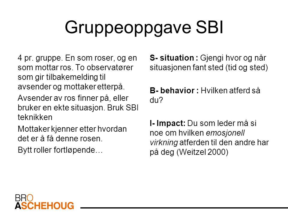 Gruppeoppgave SBI