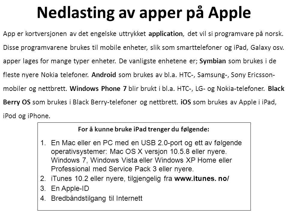 Nedlasting av apper på Apple