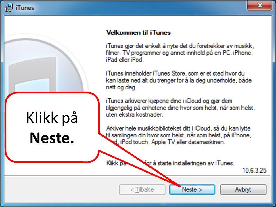 Klikk på Neste.