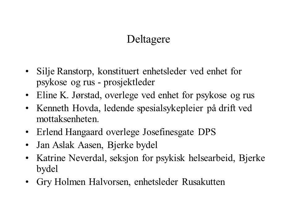 Deltagere Silje Ranstorp, konstituert enhetsleder ved enhet for psykose og rus - prosjektleder.