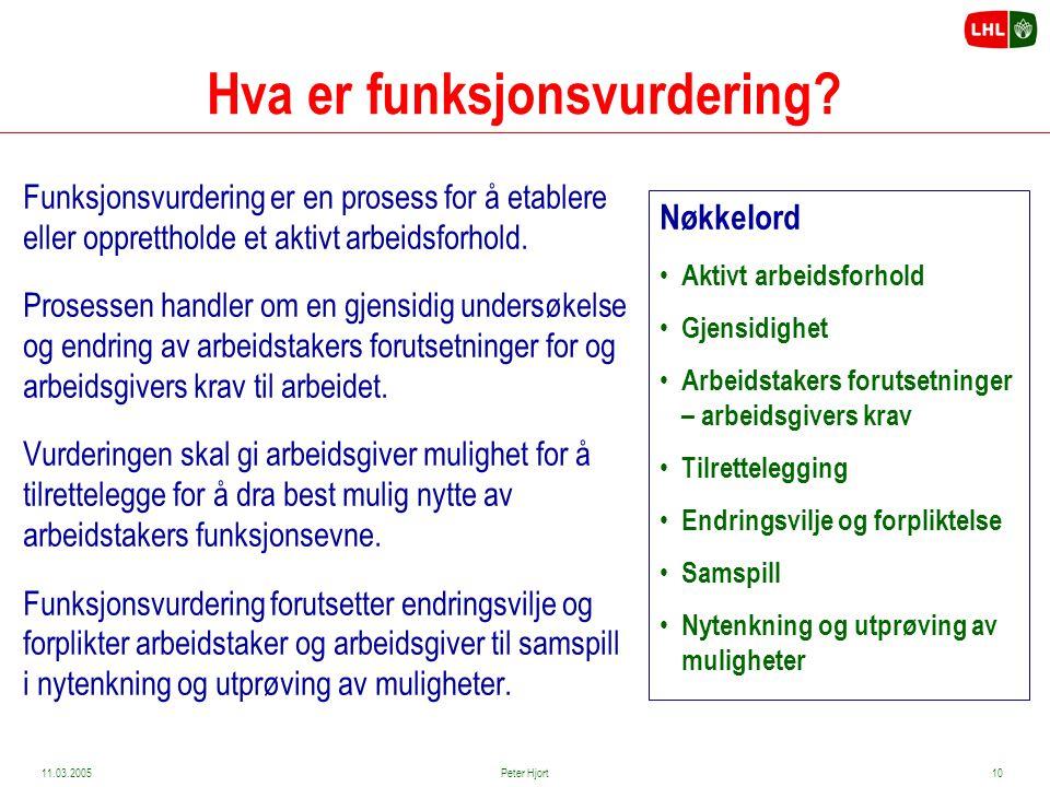 Hva er funksjonsvurdering