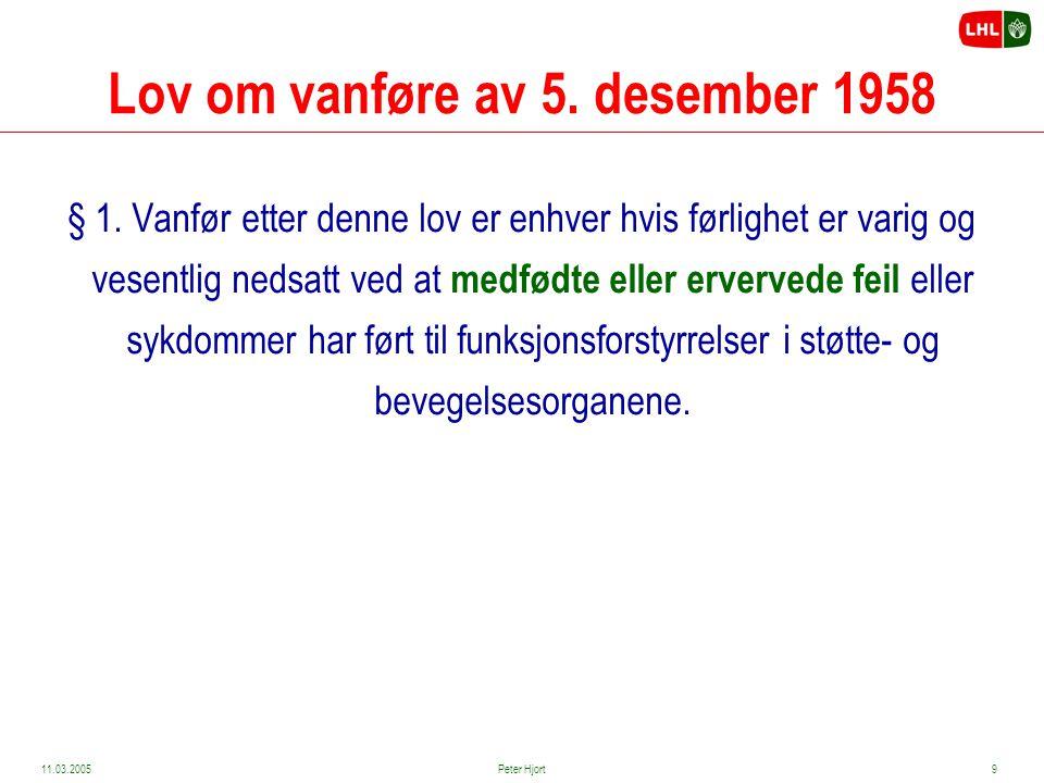 Lov om vanføre av 5. desember 1958