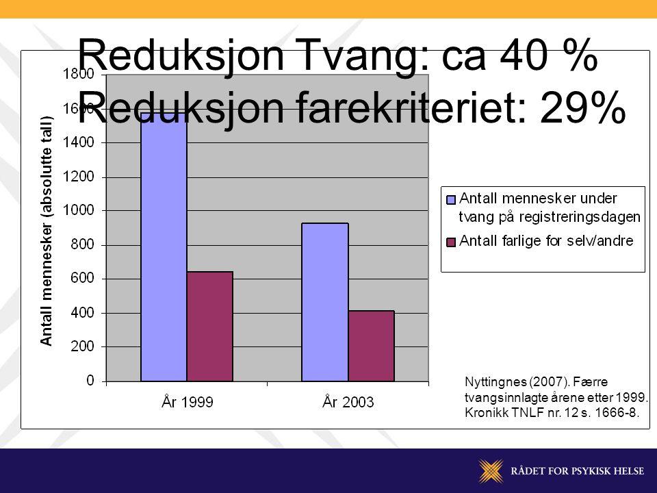 Reduksjon farekriteriet: 29%