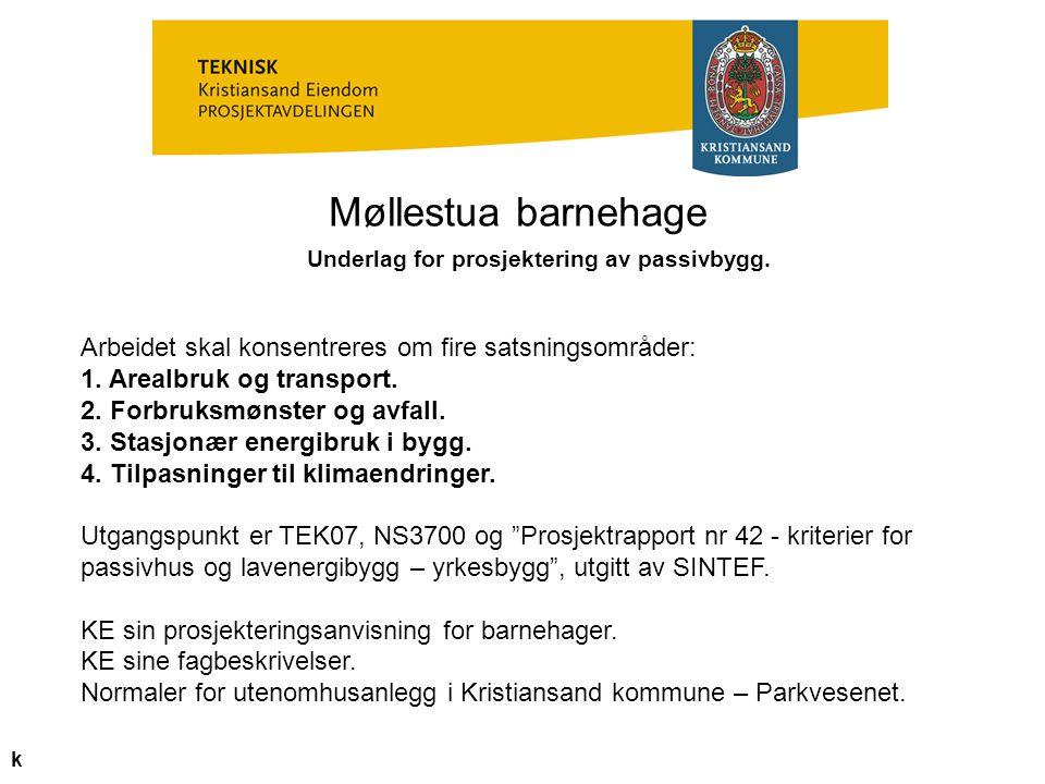 Underlag for prosjektering av passivbygg.
