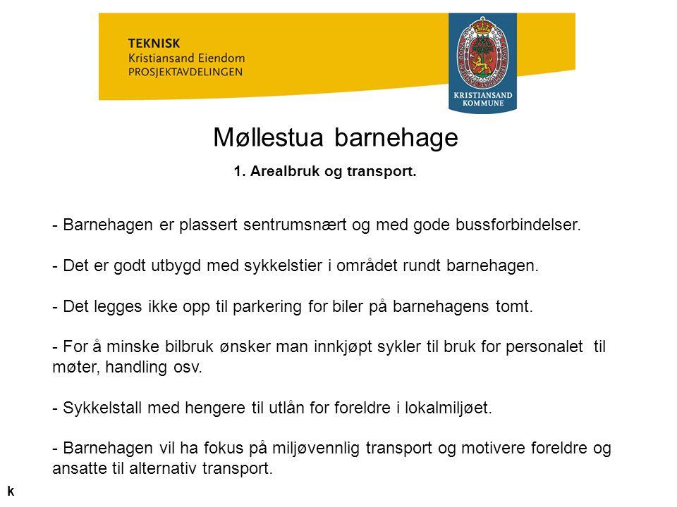 1. Arealbruk og transport.