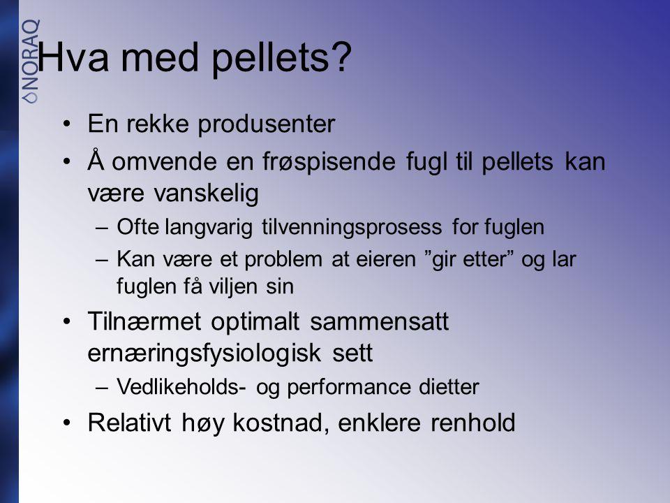Hva med pellets En rekke produsenter