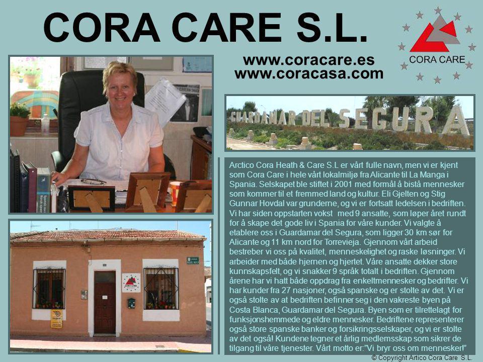 www.coracare.es www.coracasa.com