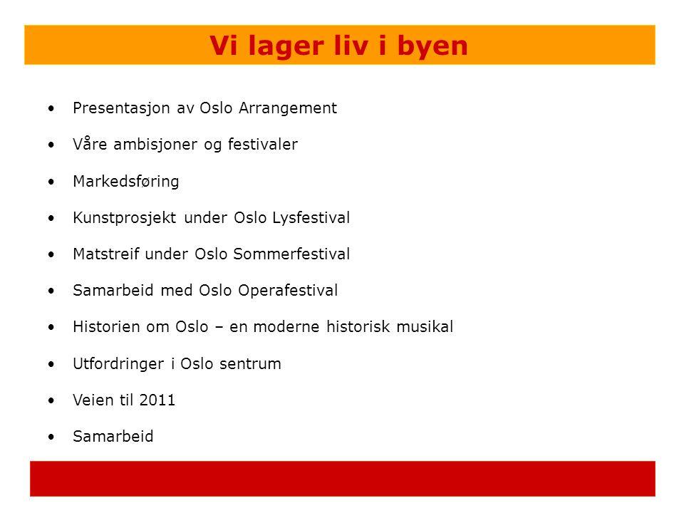 Vi lager liv i byen Presentasjon av Oslo Arrangement