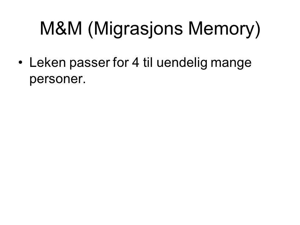 M&M (Migrasjons Memory)