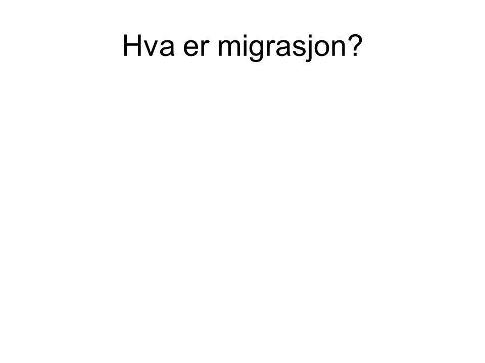 Hva er migrasjon