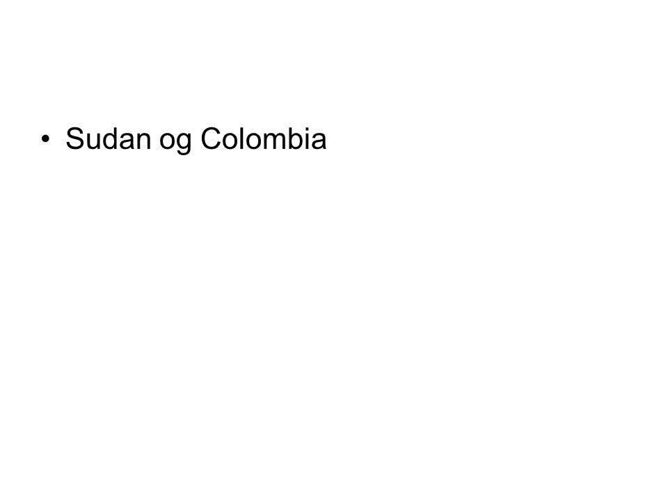 Sudan og Colombia