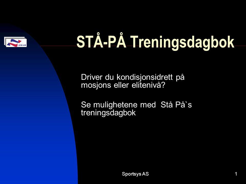 STÅ-PÅ Treningsdagbok