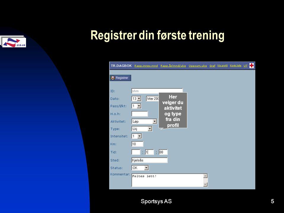 Registrer din første trening