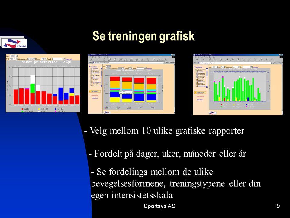 Se treningen grafisk - Velg mellom 10 ulike grafiske rapporter