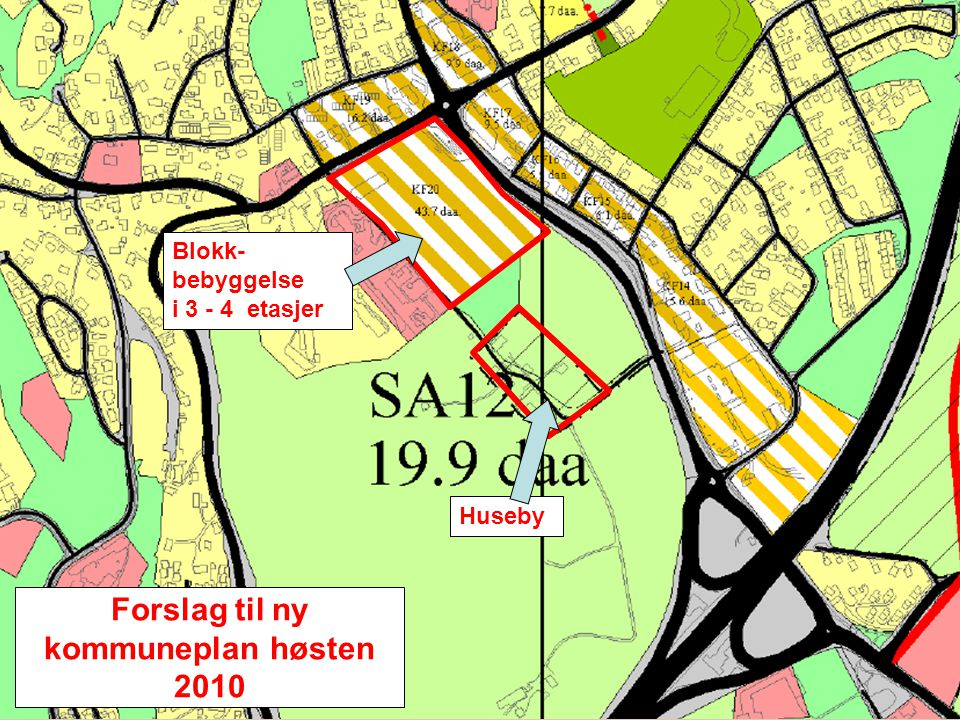 Forslag til ny kommuneplan høsten 2010