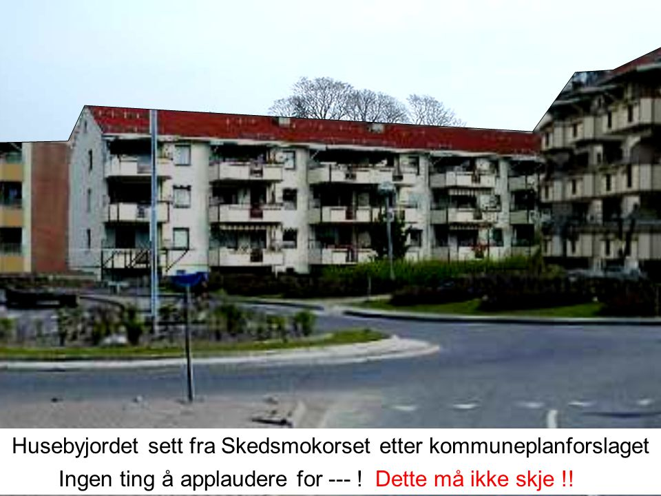 Husebyjordet sett fra Skedsmokorset i dag