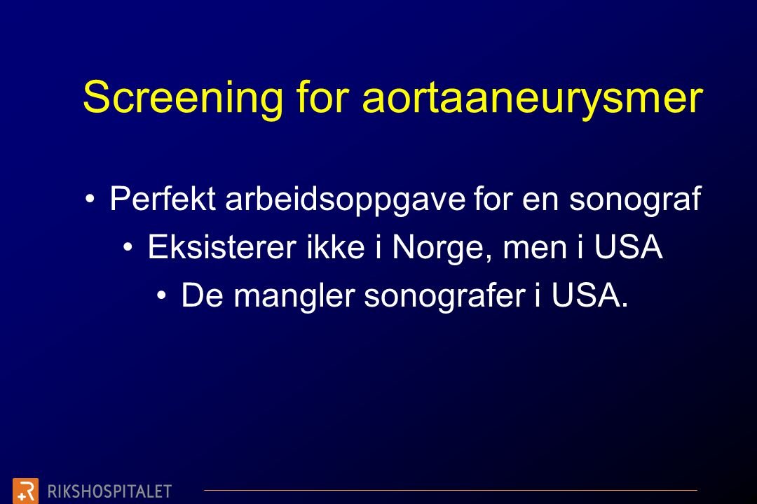 Screening for aortaaneurysmer