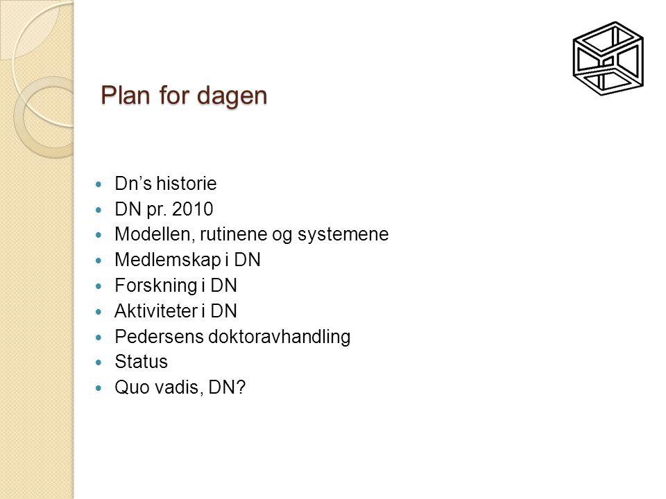 Plan for dagen Dn's historie DN pr. 2010