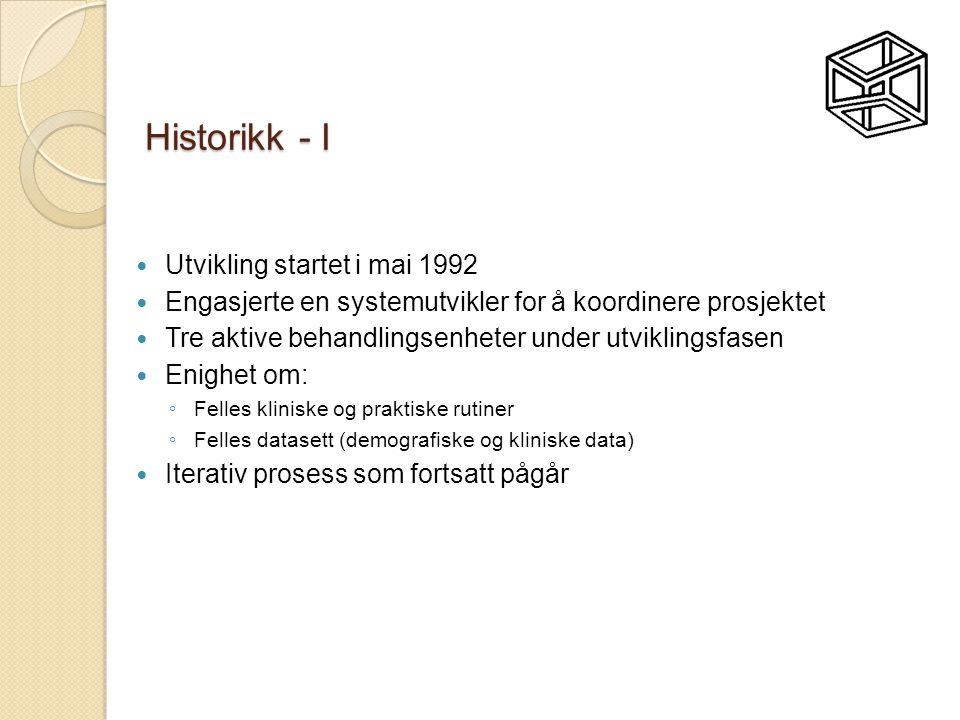 Historikk - I Utvikling startet i mai 1992