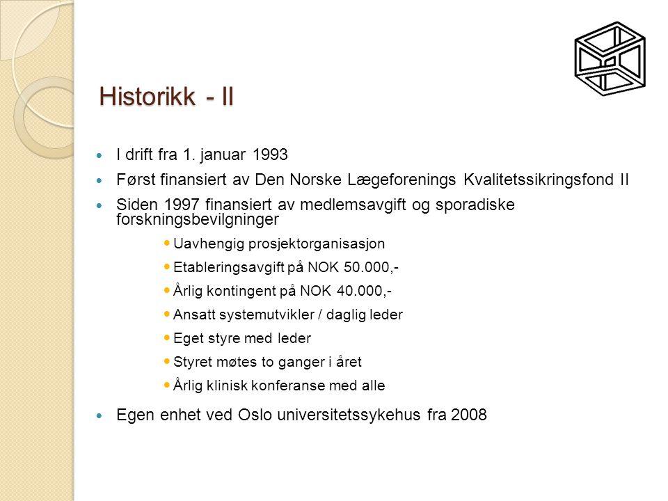 Historikk - II I drift fra 1. januar 1993