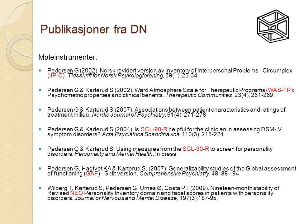 Publikasjoner fra DN Måleinstrumenter: