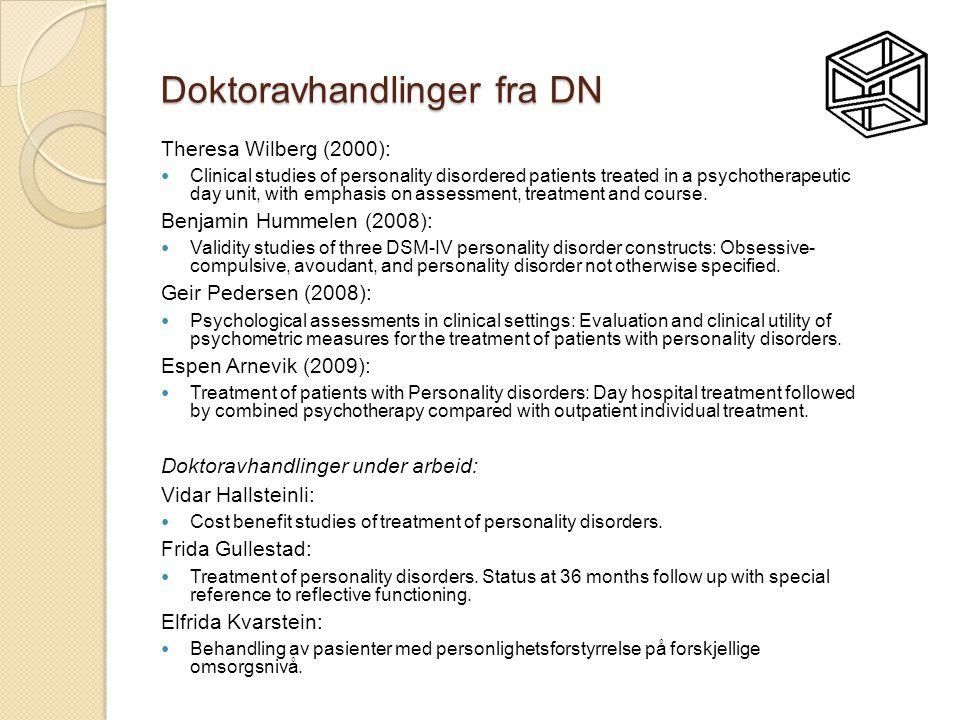Doktoravhandlinger fra DN