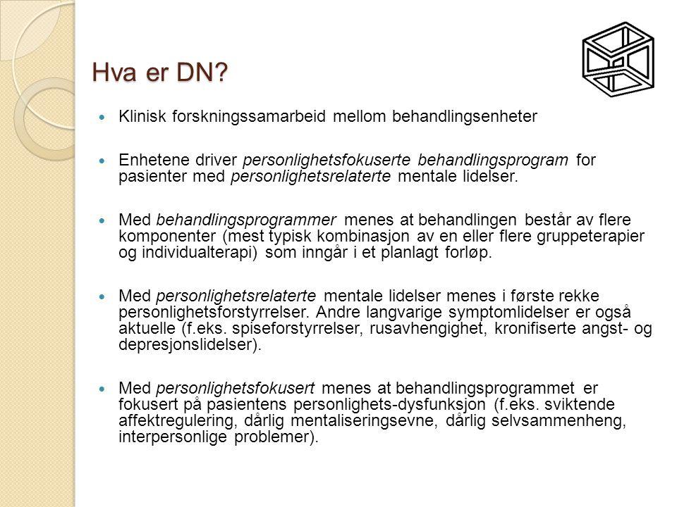 Hva er DN Klinisk forskningssamarbeid mellom behandlingsenheter