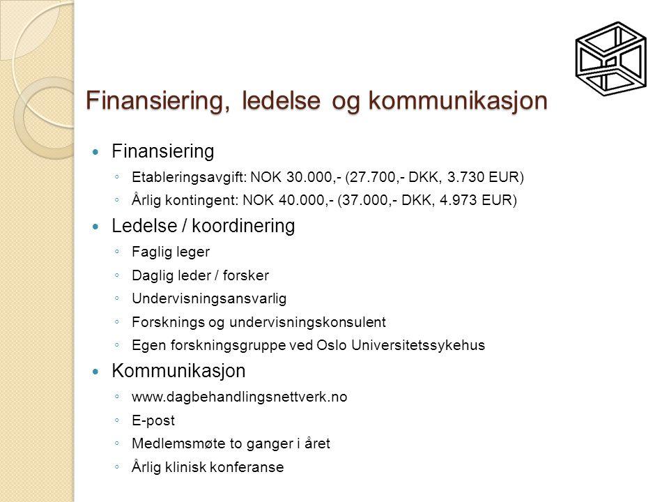 Finansiering, ledelse og kommunikasjon