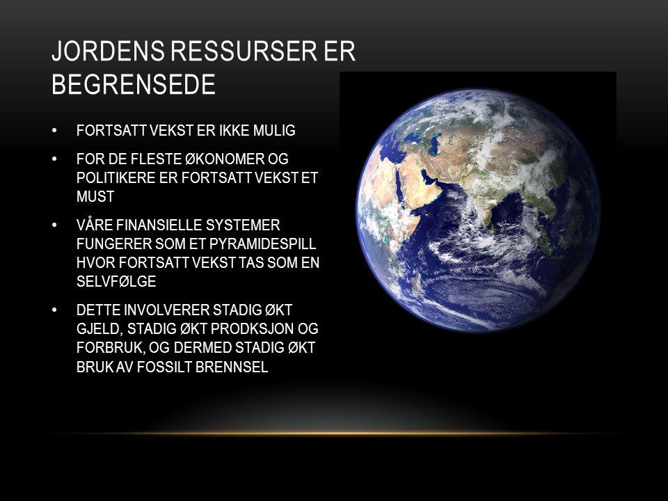 JordenS ressurser er begrensede