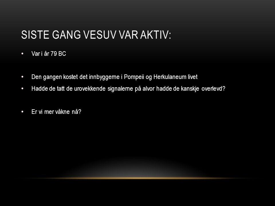 Siste gang Vesuv var aktiv: