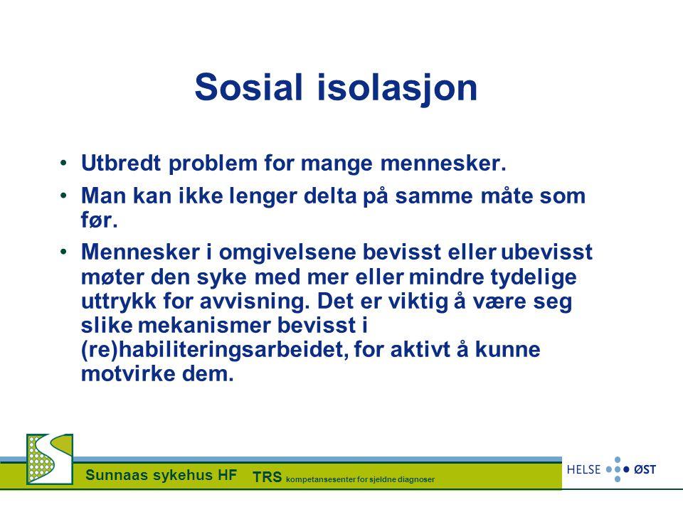 Sosial isolasjon Utbredt problem for mange mennesker.